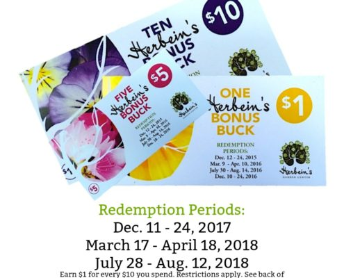 Bonus Bucks Redemption