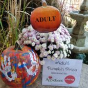Fall Fest & Craft Fair Fundraiser Pumpkin Painting Contest Winner Adult Division - John Williams 2017