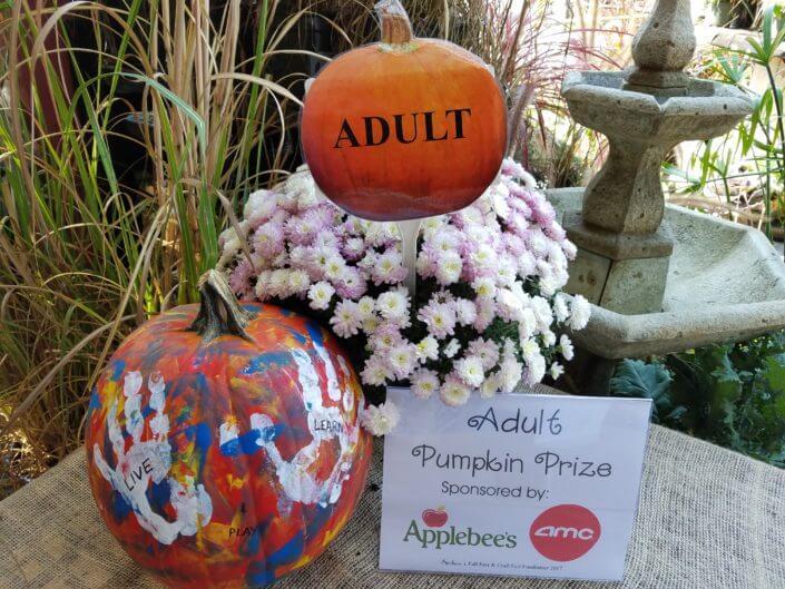 Fall Fest & Craft Fair Fundraiser Pumpkin Painting Contest Winner Adult Division - John Williams 2017