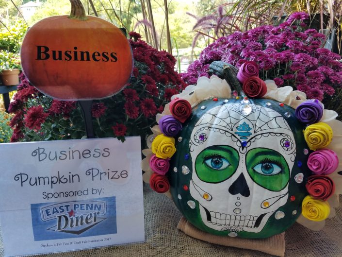 Fall Fest & Craft Fair Fundraiser Pumpkin Painting Business Division Winner - Khineder Creations 2017