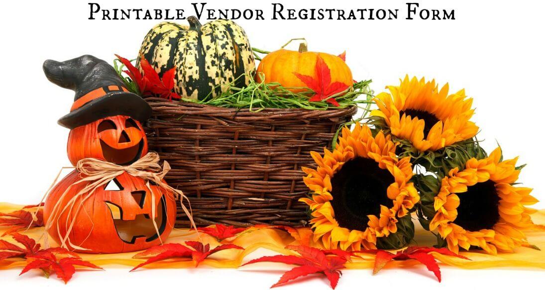 Herbeins Fall Fest & Craft Fair Fundraiser Printable Vendor Registration Form