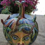 Fall Fest & Craft Fair Fundraiser Pumpkin Painting Contestant - Buss Paint & Wallpaper 2017