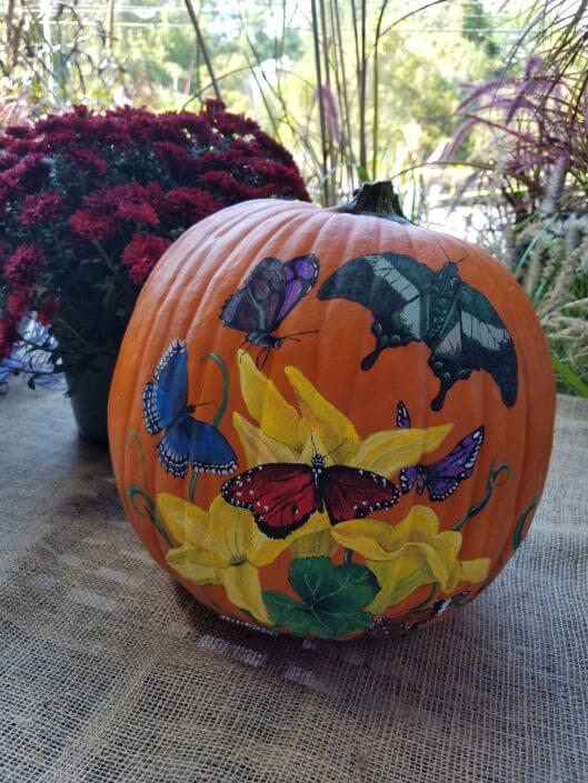 Fall Fest & Craft Fair Fundraiser Pumpkin Painting Contestant - Shadow Drawing 2017