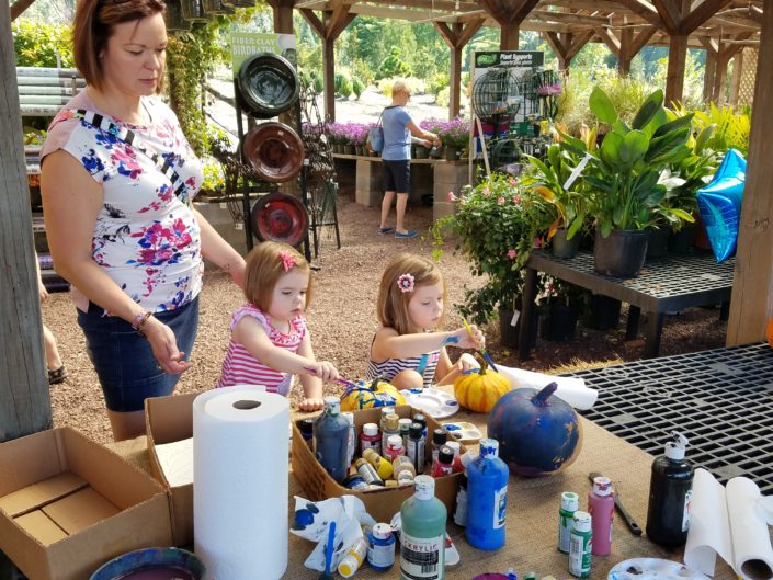 Fall Fest & Craft Fair Fundraiser Peyton & McKenna Painting Pumpkins 2017