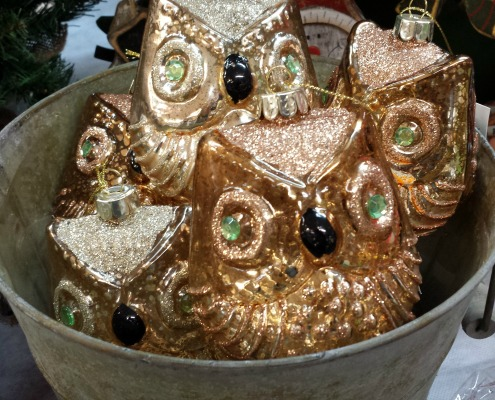 Herbeins Gold Holiday Owls