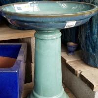 Blue Stone Birdbath Glazed Herbeins Garden Center Emmaus PA