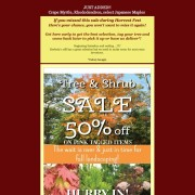Herbein's Fall Nursery Sale