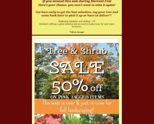 Herbein's Fall Nursery Sale