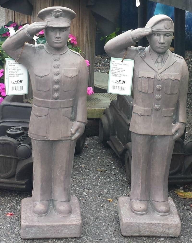 Military Statues memorial Herbeins Garden Center Emmaus PA