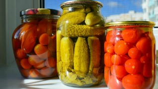 Canning pickles tomatoes preserving jars Herbeins Garden Center Emmaus Pa