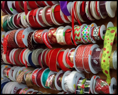 Herbeins Holiday Wall of Ribbon