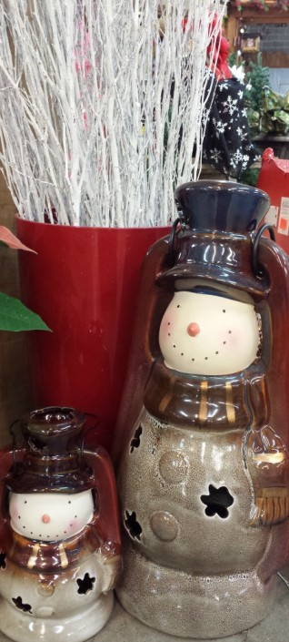 Holiday Gift Ideas Ceramic Snowman Herbeins Garden