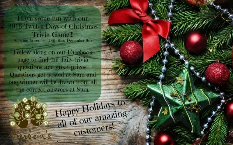 Herbeins Garden Center Twelve Days of Christmas Emmaus Lehigh Valley Pa