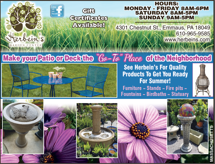Newspaper Ad June 28, 2017 Herbeins Garden Center Emmaus Pa Sales Perennial of the Week Patio Furniture Plants