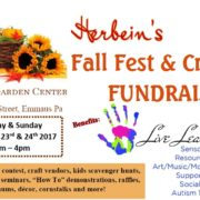 Fall Fest Craft Fair Fundraiser Herbeins Garden Center Live Learn & Play Emmaus Pa September Events