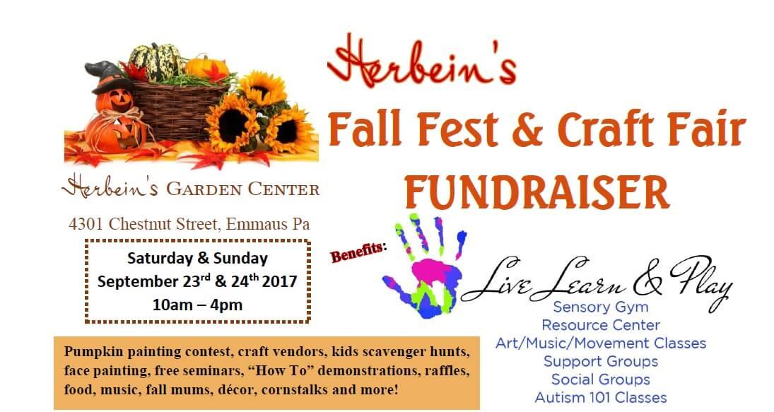 Fall Fest Craft Fair Fundraiser Herbeins Garden Center Live Learn & Play Emmaus Pa September Events