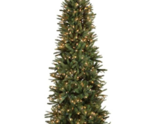 Slim Oregon Pine Artificial Christmas Tree