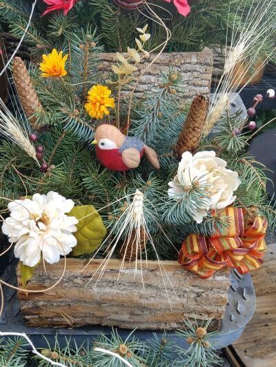 Christmas Cemetery Log