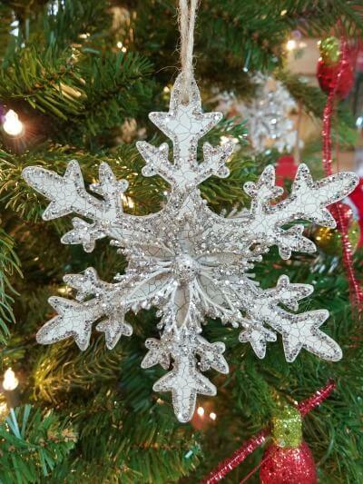 Christmas Glitter Snowflake Ornament