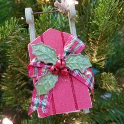 Christmas Sleigh Ornament