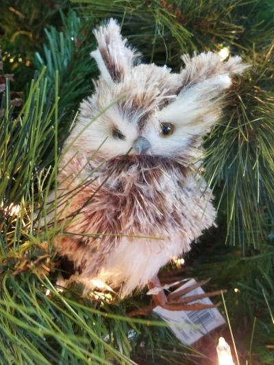 Christmas Small Owl Ornament