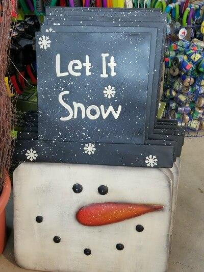 Large Christmas Snowman Foldout
