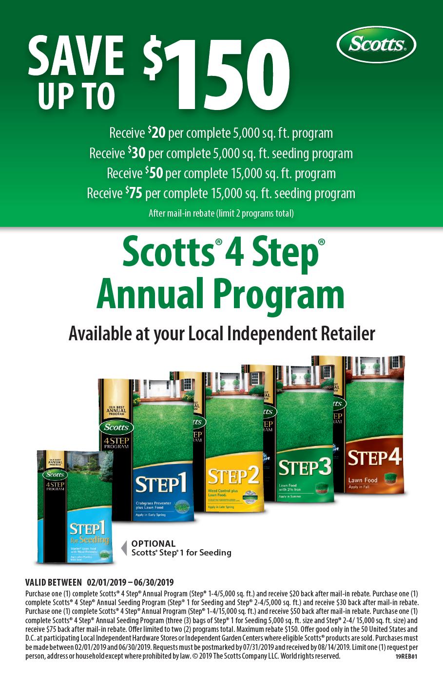 Scotts 4 Step Rebate 2019 Herbeins Garden Center