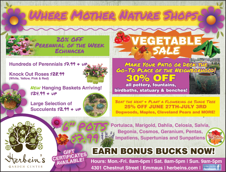 Ad For Week Of 6/27 7/03/2018 Herbeins Garden Center