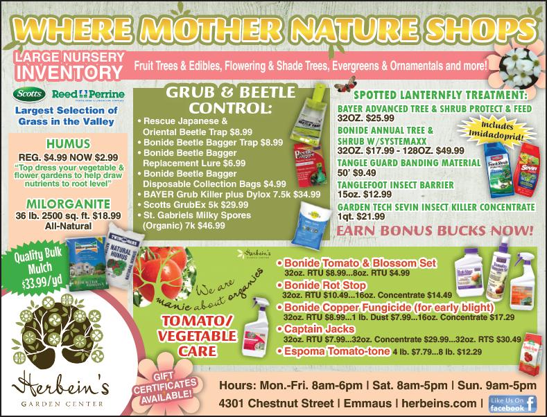 Ad for week of 6/27-7/03/2018 Herbeins Garden Center