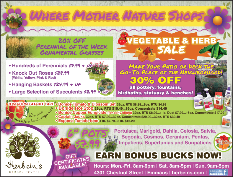 Ad for week of 7.04.2018 Herbeins Garden Center