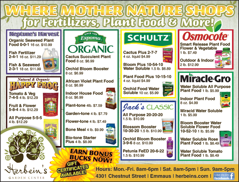 Herbeins Garden Center Ad 7/17/2018