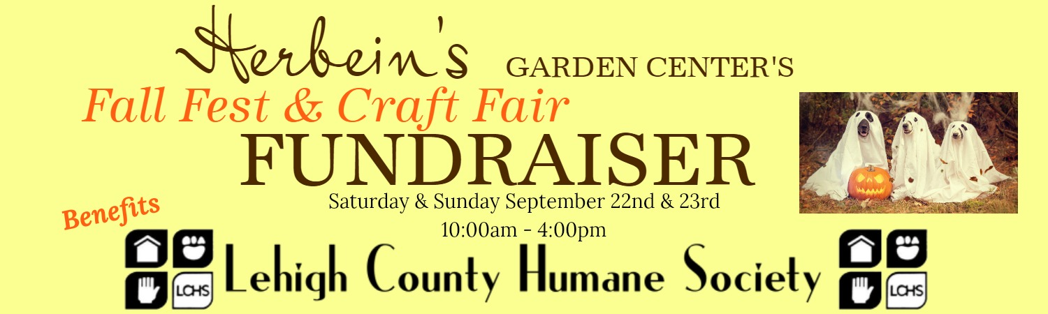 Fall Fest Banner Herbeins Garden Center Lehigh County Humane Society Fundraiser