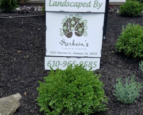 Herbeins Garden Center Landscape Job 7/2018-8/2018