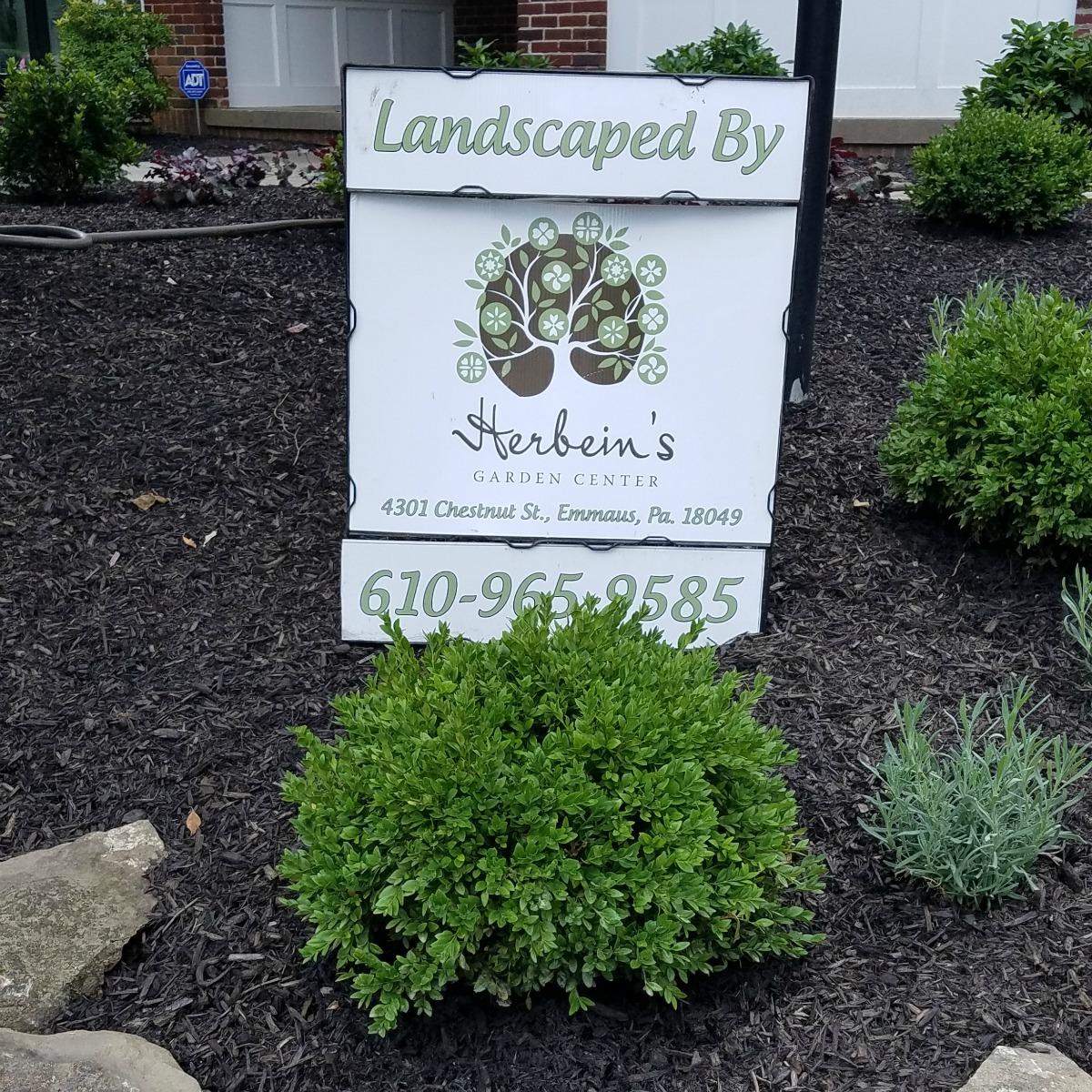 Herbeins Garden Center Landscape Job 7/2018-8/2018