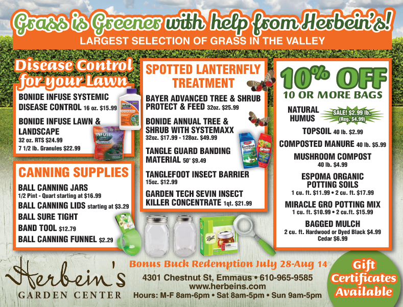 Herbeins Garden Center Ad for week of 8/08/2018