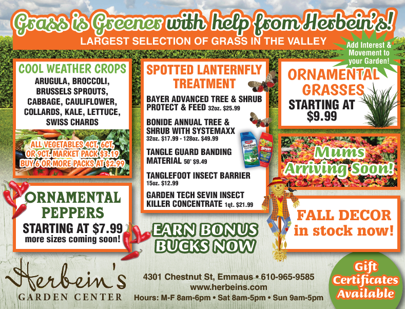 Herbeins Garden Center Ad for week of 8/21/2018