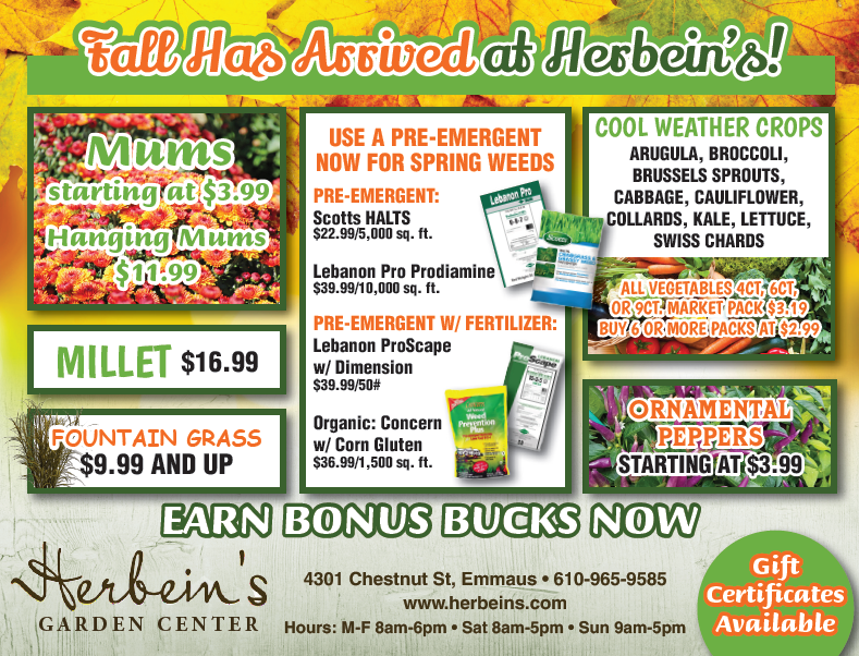 Ad for week of 8/21/2018 Herbeins Garden Center