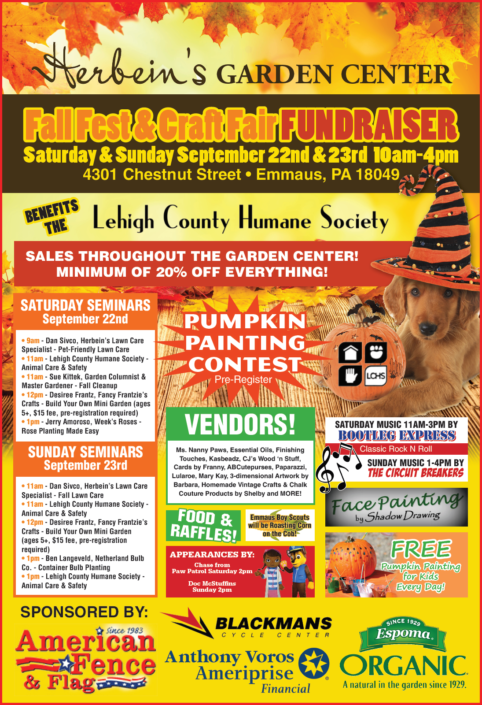 Herbeins Garden Center 2018 Fall Fest Poster