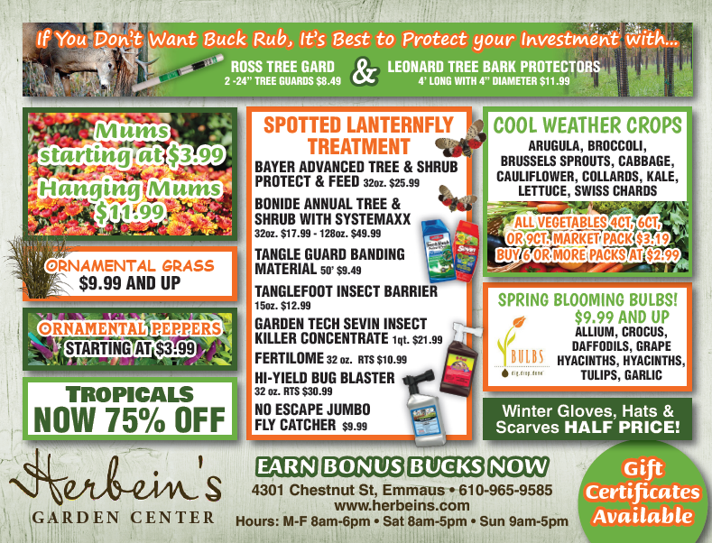 Herbeins Garden Center Ad for week of 9/04-/9/10/2018