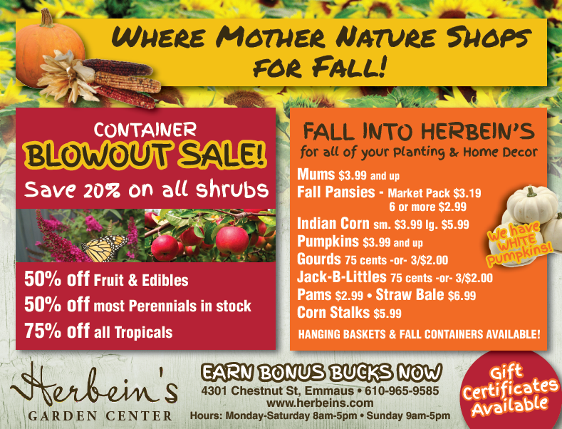 Herbeins Garden Center Ad for week of 10/02-10/08/2018