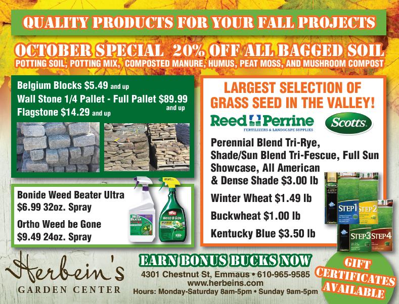 Herbeins Garden Center Ad for week of 10/02-10/08/2018