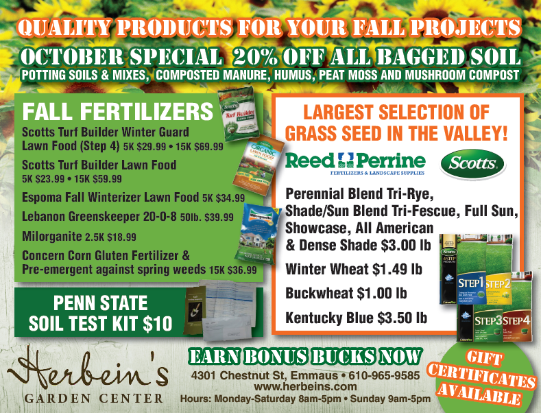 Herbeins Garden Center Ad for week of 10/09/2018