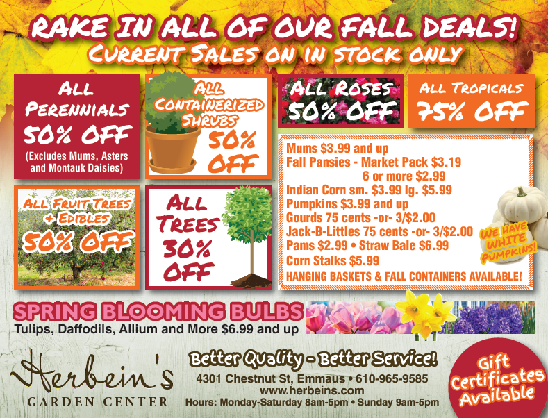 Herbeins Garden Center Ad for week of 10/17/2018