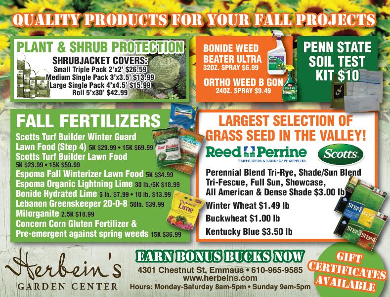 Herbeins Garden Center Ad for week of 10/24/2018