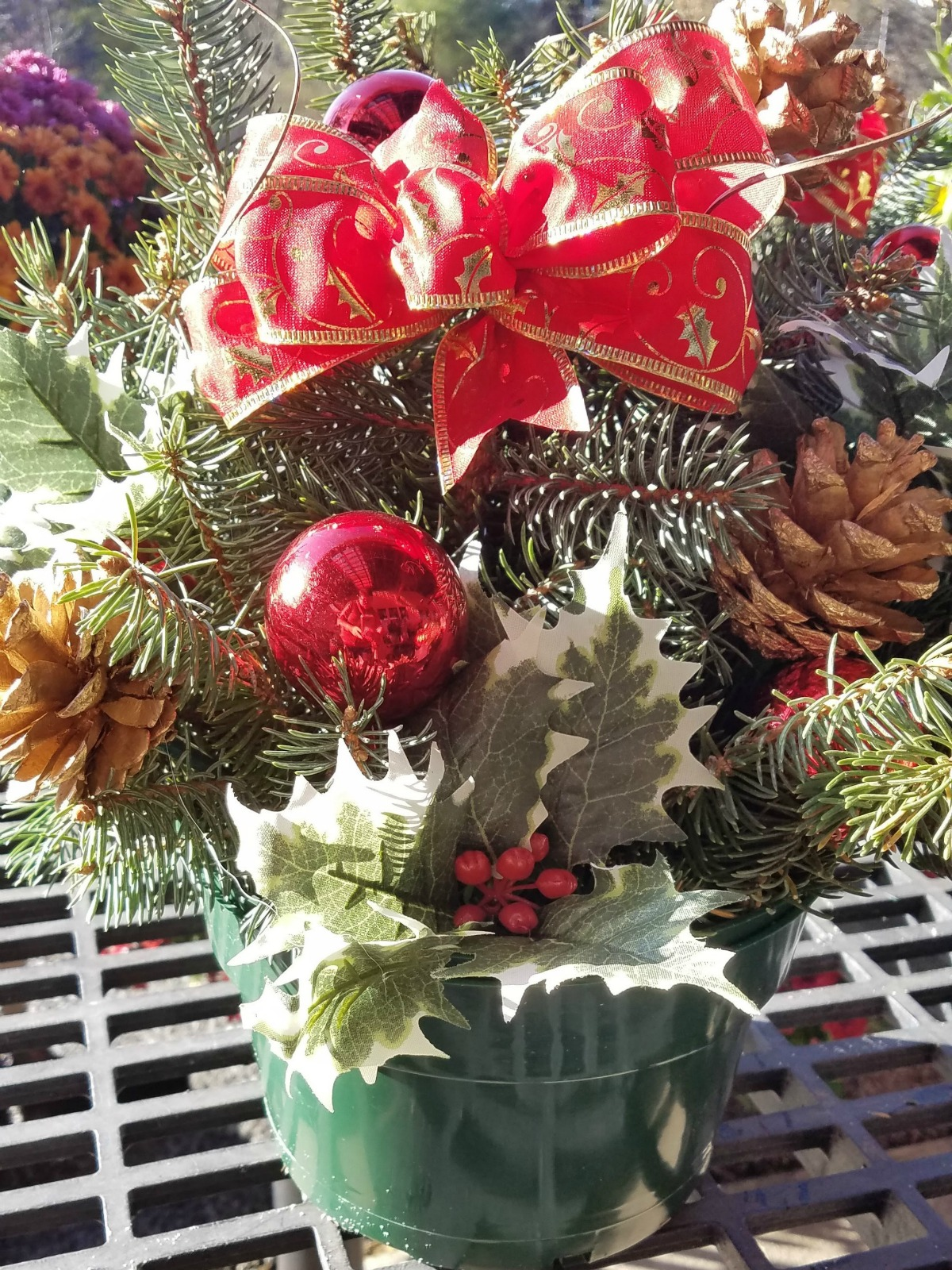 Herbeins Garden Center Christmas Cemetery Pots