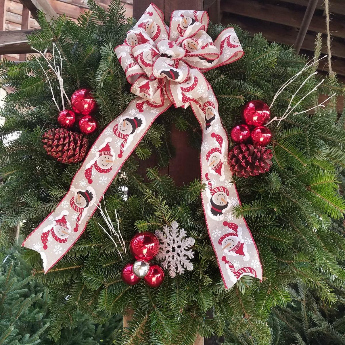 Herbeins Garden Center Handmade Christmas Wreath