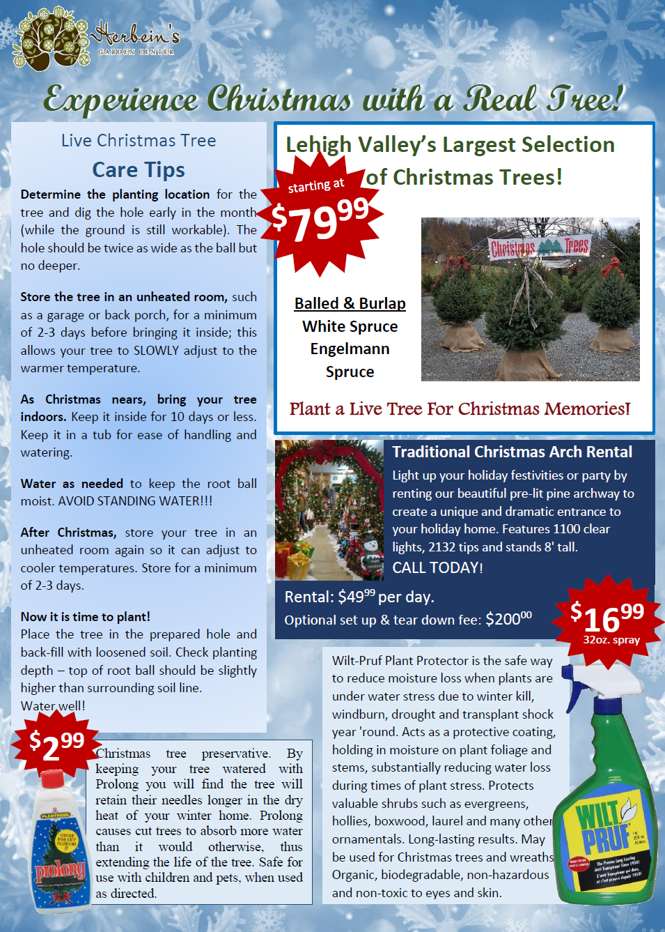 Herbeins Garden Center Holiday Guide 2018