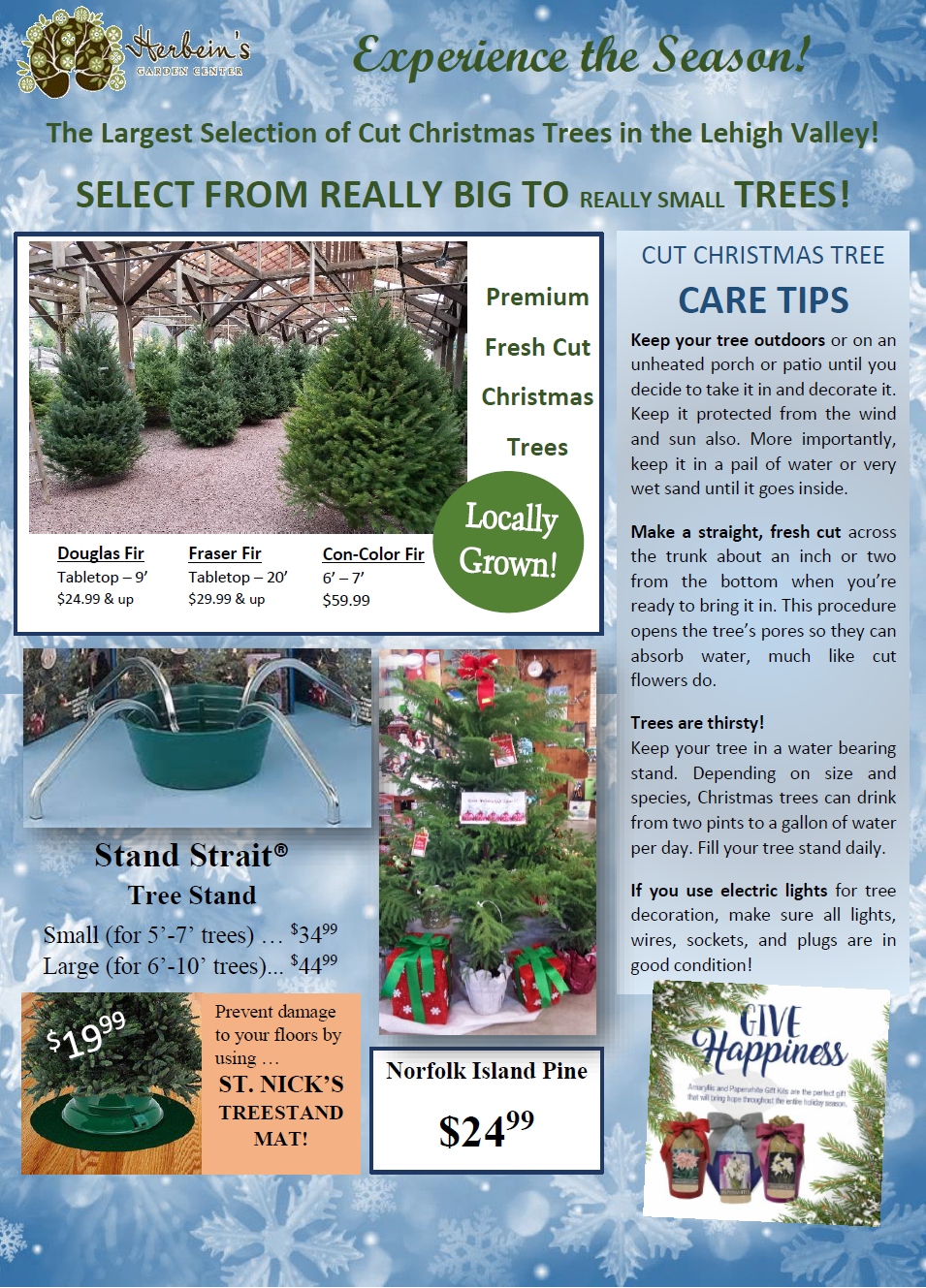 Herbeins Garden Center Holiday Guide 2018 pg.2