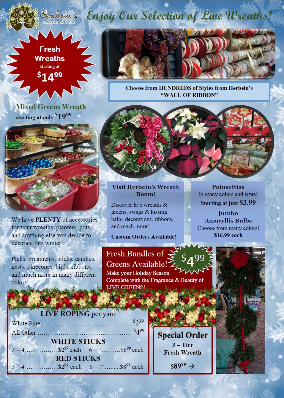Herbeins Garden Center Holiday Guide 2018 pg.3