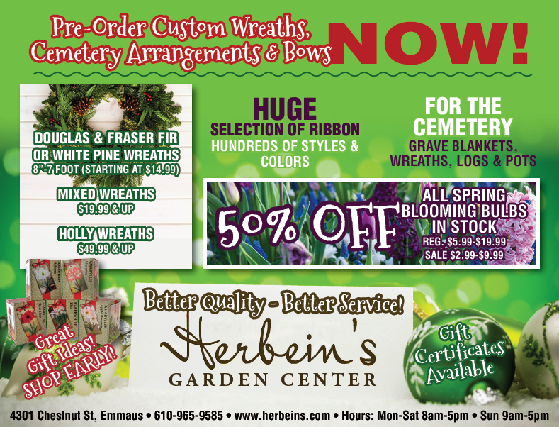 Herbeins Garden Center Ad for week of 11/07/2018